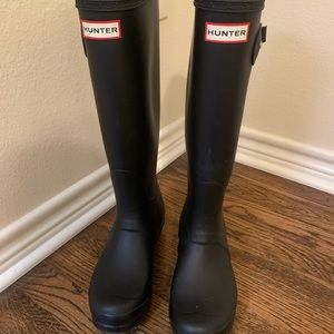 Hunter Rainboots (Black Matte)